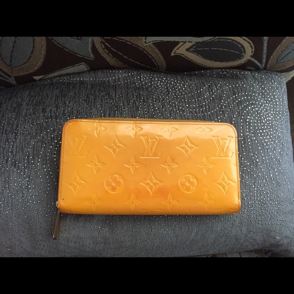 Louis Vuitton Handbags - Sold Louis Vuitton Vernis Yellow Zippy Wallet